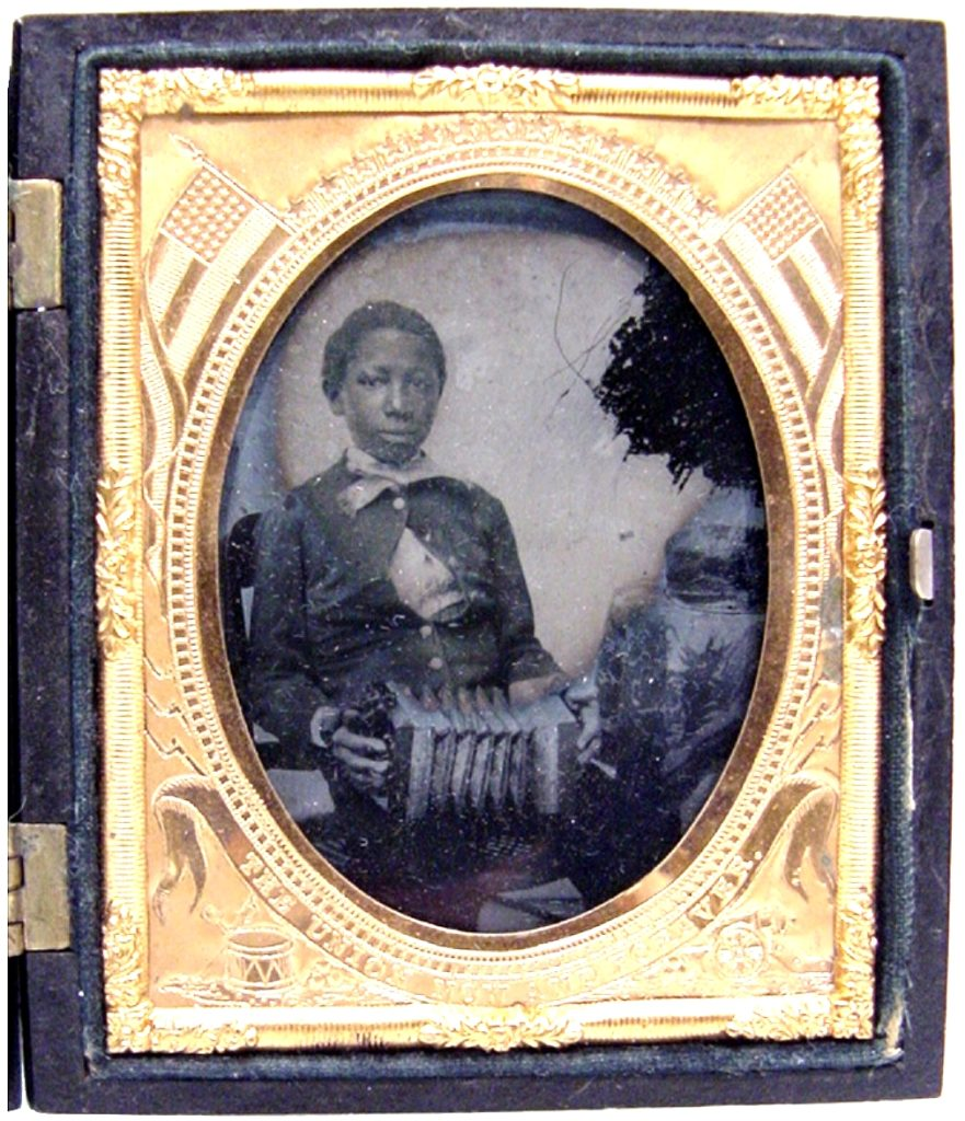 Young Man with a Concertina ambrotype