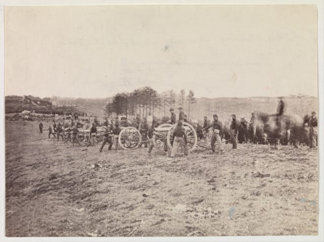 Battery Going into Action, Fredericksburg, December 13, 1862
