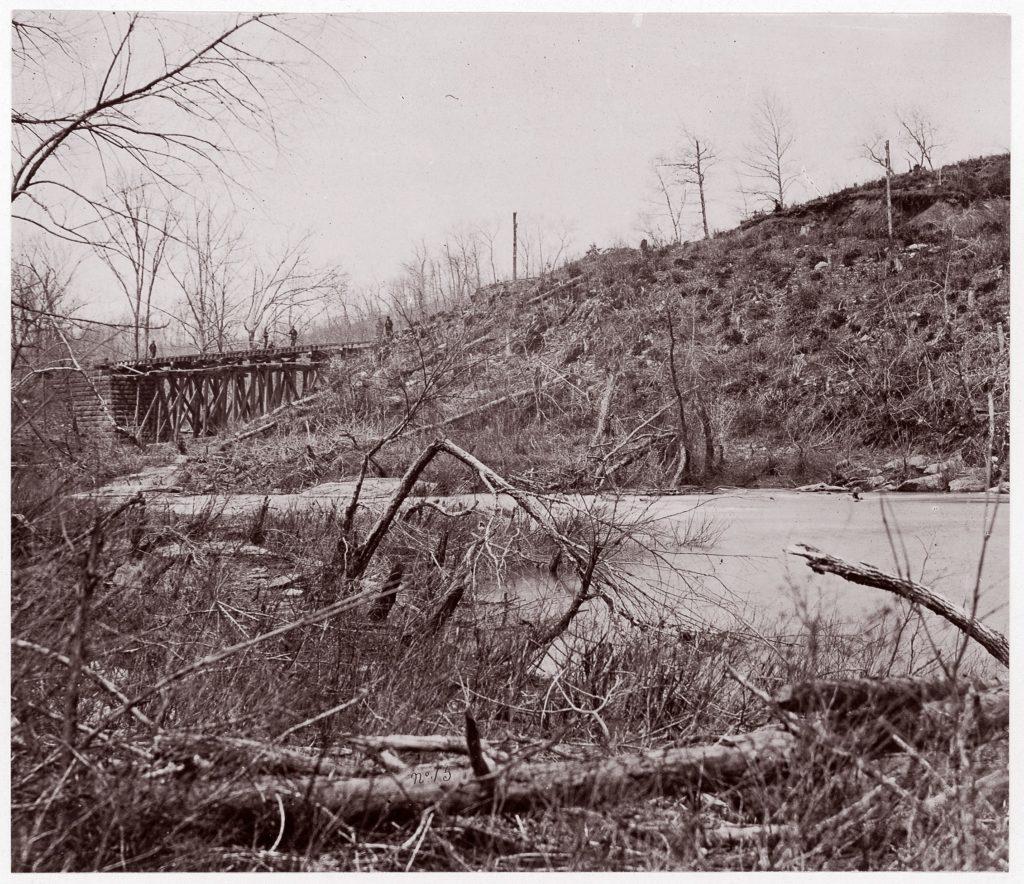 Bull Run. Bridge near Union Mills (destroyed seven times)