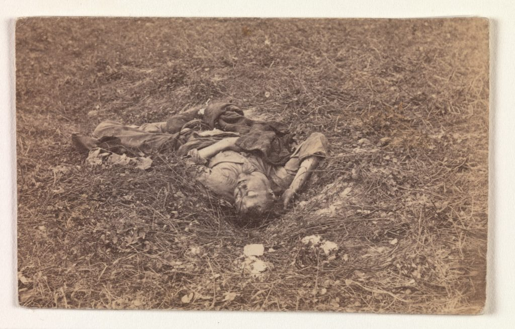 Confederate Soldier [on the Battlefield at Antietam]