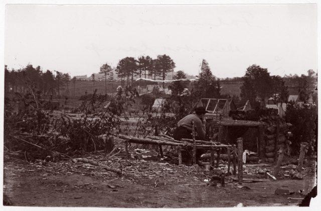 Falmouth, Virginia. Abandoned Camp