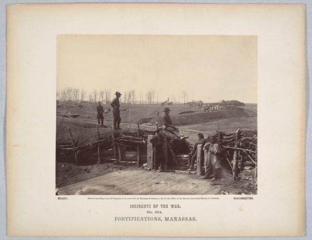 Fortifications, Manassas