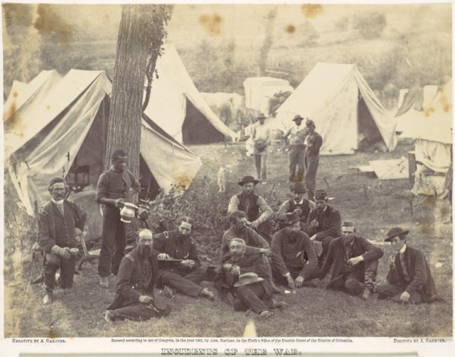 Group at Headquarters of the Army of the Potomac, Antietam, October 1862