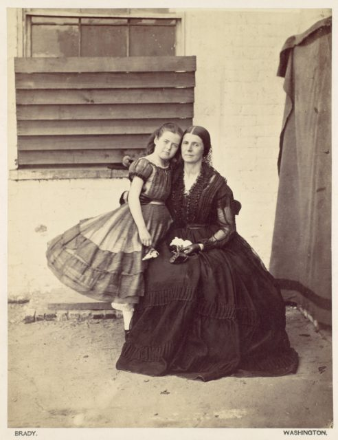 Mrs. Greenhow and Daughter, Imprisoned in the Old Capitol, Washington