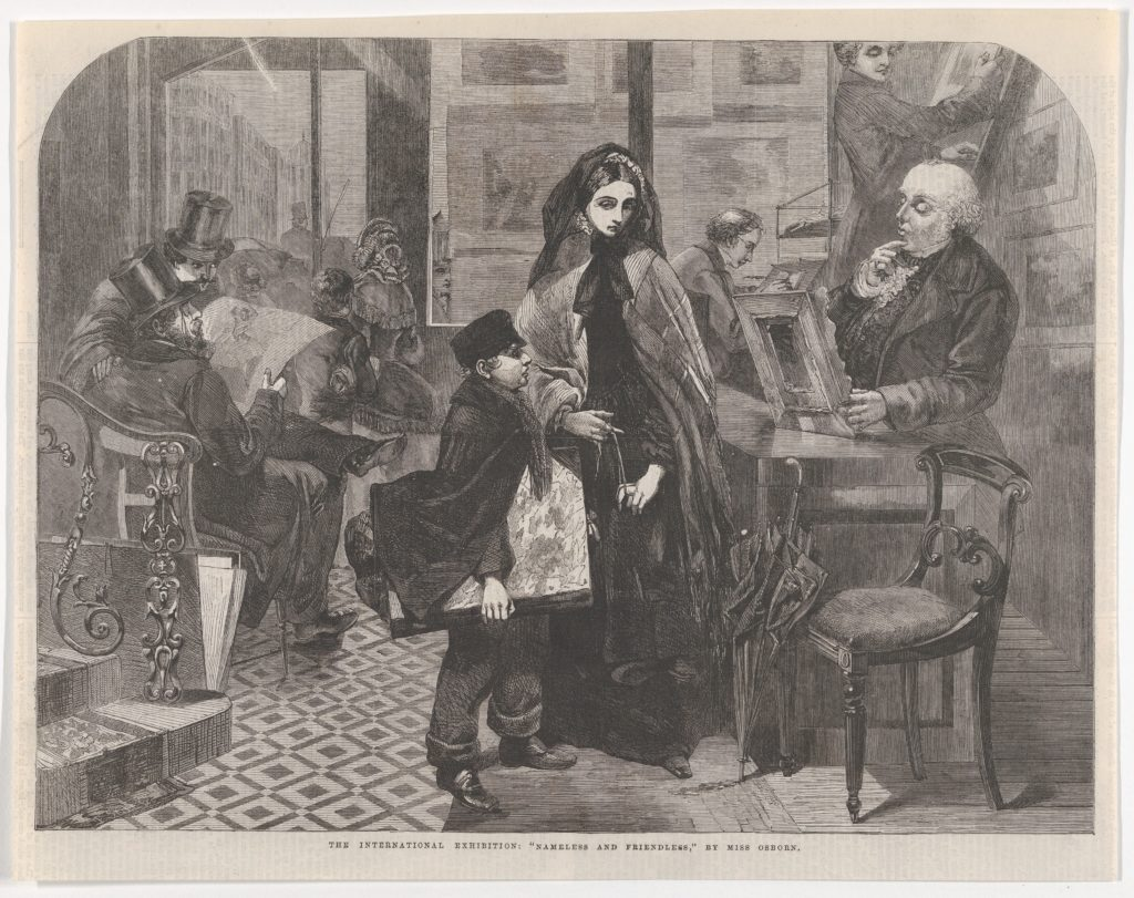 "Nameless and Friendless, from the ""Illustrated London News"""