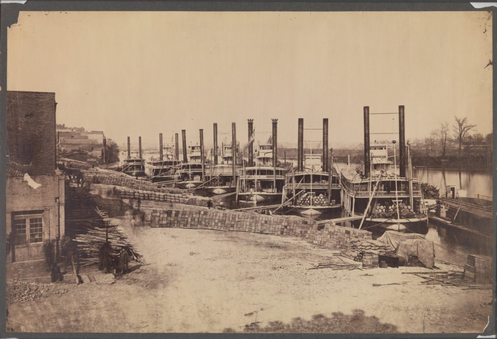 [Supply Steamers at Nashville, Tennessee]