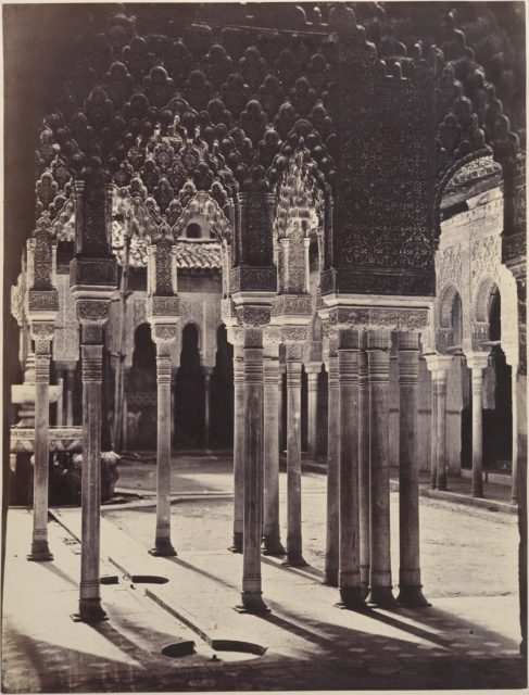 [The Lion Court at the Alhambra, Viewed from Beneath the Portico Temple]