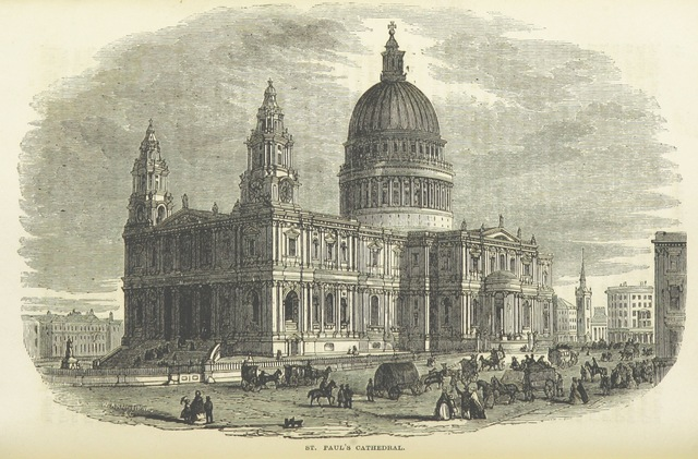 """architecture from """"Cassell's Illustrated Guide to London; with full information for visitors to the metropolis during the period of the International Exhibition"""""""