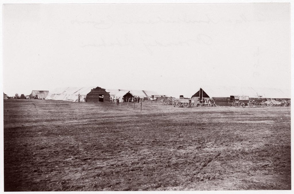 Camp of Confederate Prisoners at Belle Plain, May 12, 1863
