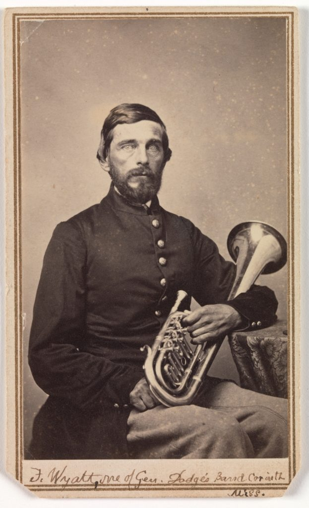 Frank Wyatt, One of General Dodge's Band, Corinth, Mississippi