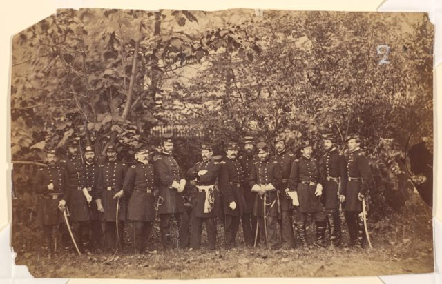 General McClellan and Staff