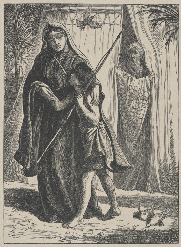 Hagar and Ishmael (Dalziels' Bible Gallery)