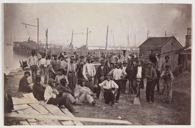 Laborers at Quartermaster's Wharf, Alexandria, Virginia