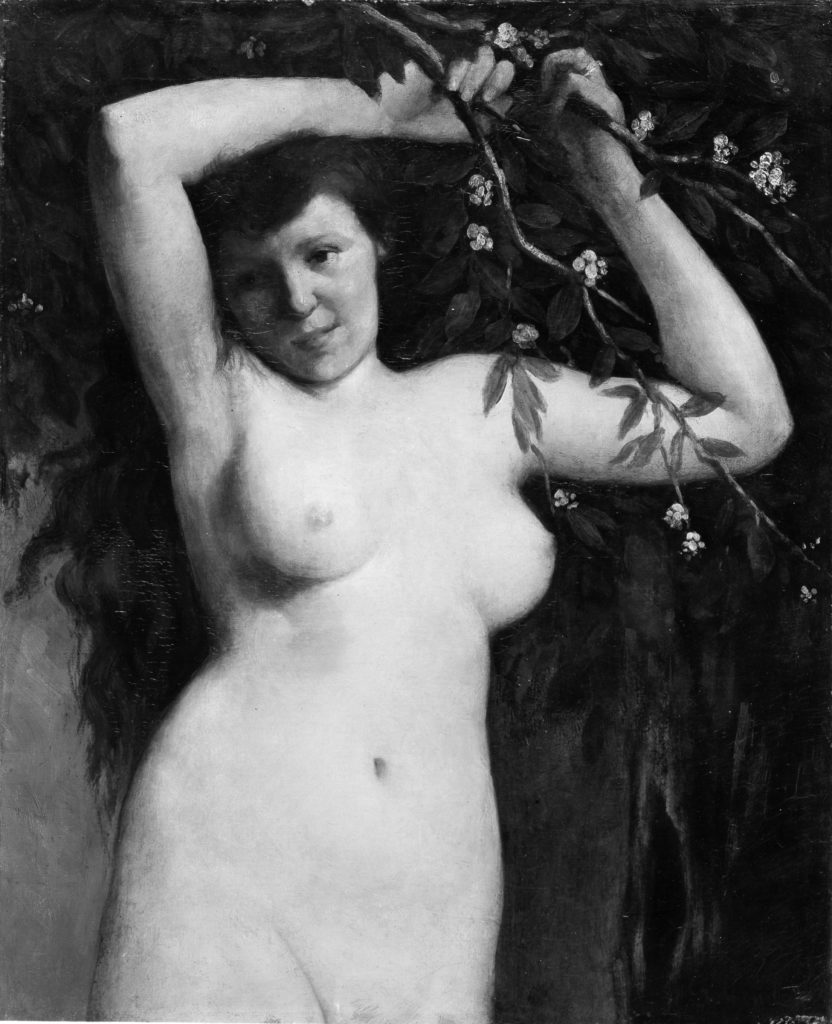 Nude with Flowering Branch