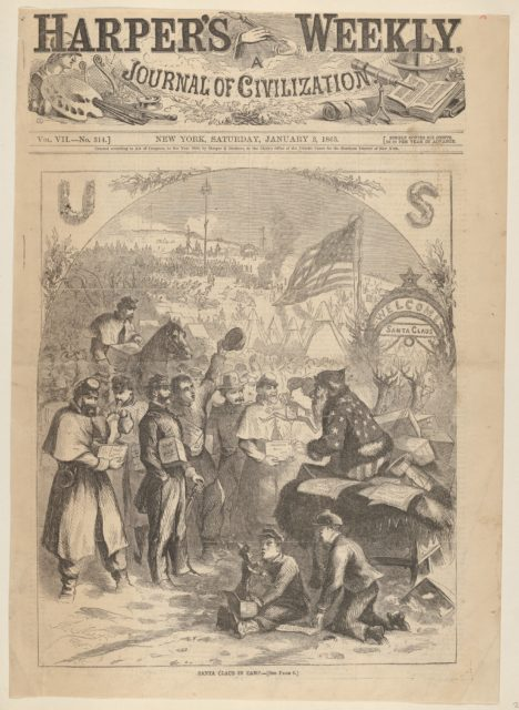 Santa Claus in Camp (from Harper's Weekly)