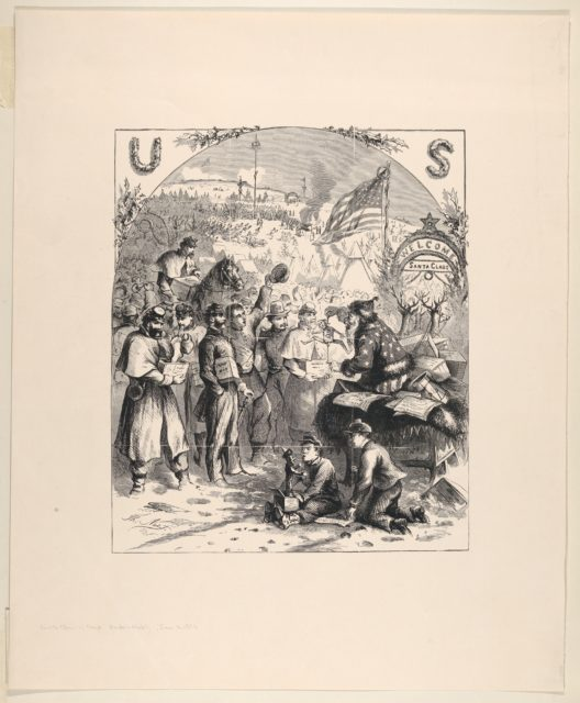 Santa Claus in Camp (published in Harper's Weekly, January 3, 1863)