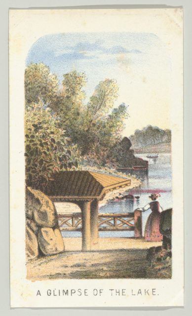 A Glimpse of the Lake, from the series, Views in Central Park, New York, Part 2