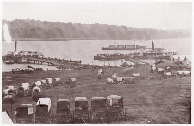 Belle Plain, Virginia.  Potomac River, Upper Wharf