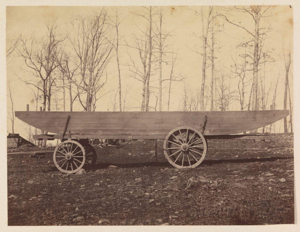 [Detachment of 50th N.Y. Volunteer Engineers, Pontoon Wagon and Saddle Boat]