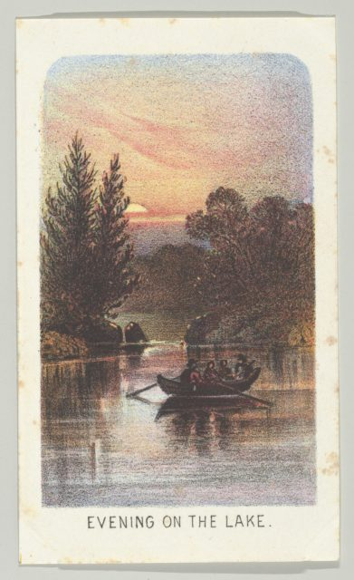 Evening on the Lake, from the series, Views in Central Park, New York, Part 3