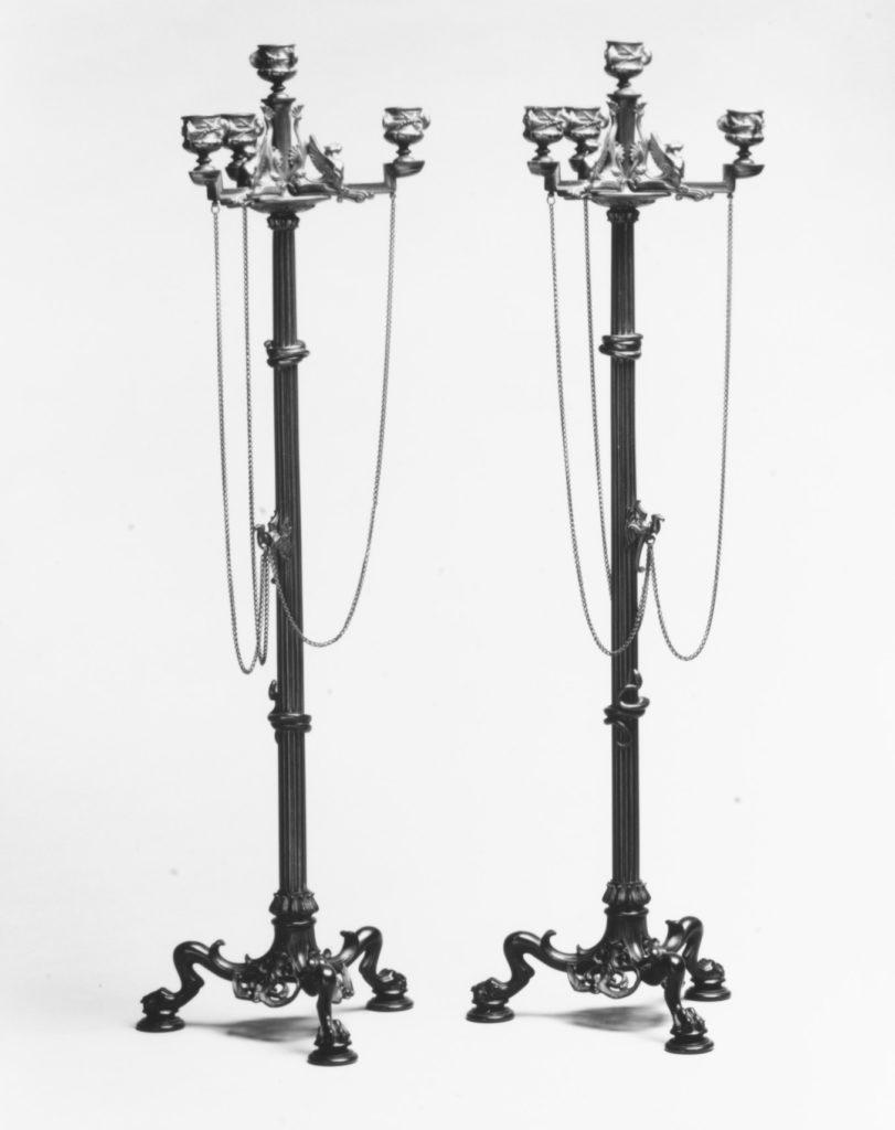 Four-light candelabrum (one of a pair)