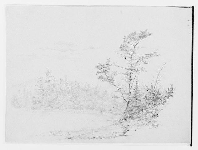 Lakeshore View [Long Lake?] (from Sketchbook)