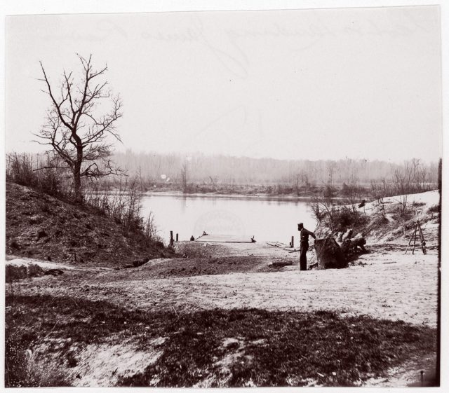 Lower Pontoon Bridge, Deep Bottom, James River