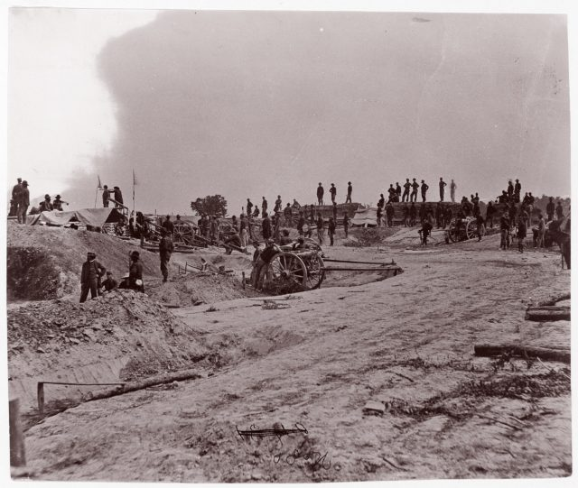 Outer Confederate Line, Petersburg, Captured June 15, 1864