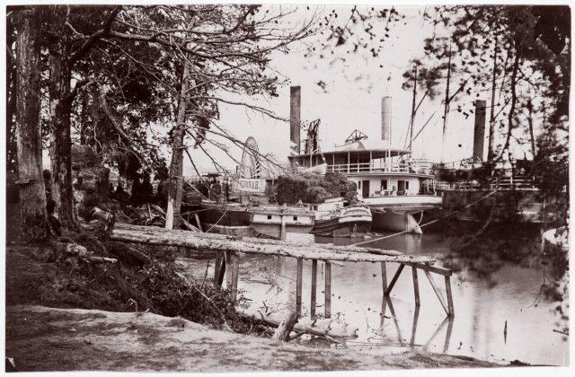 Pontoon Bridge at Deep Bottom, James River
