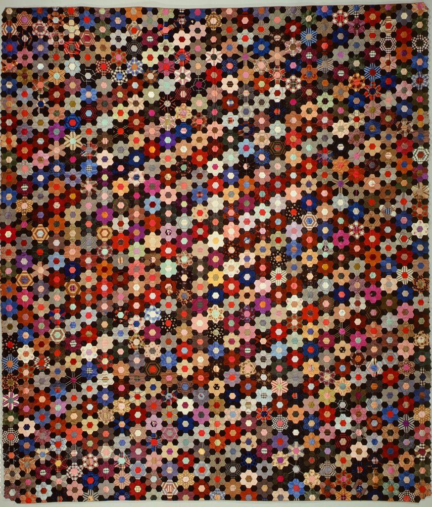Quilt, Hexagon or mosaic pattern