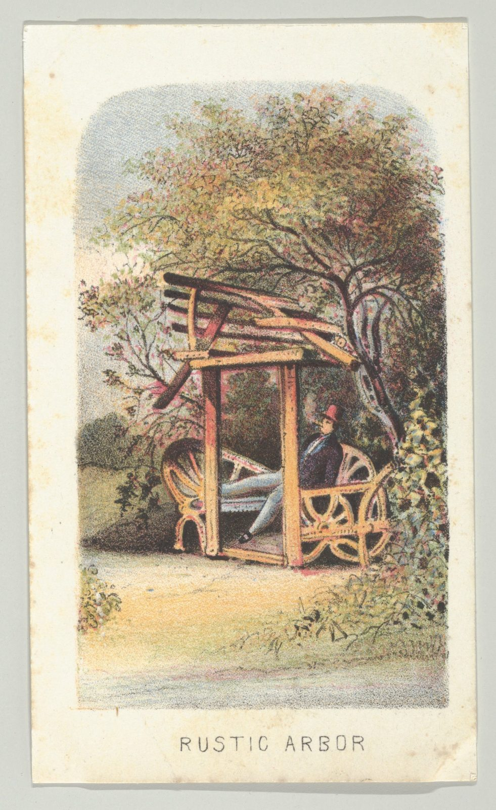 Rustic Arbor, from the series, Views in Central Park, New York, Part 2