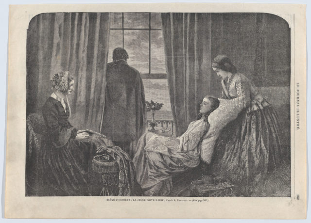 "Scène d'Octobre: La jeune poitrinaire (An October Scene: The Young Consumptive, from ""Le Journal Illustré"" no. 34)"