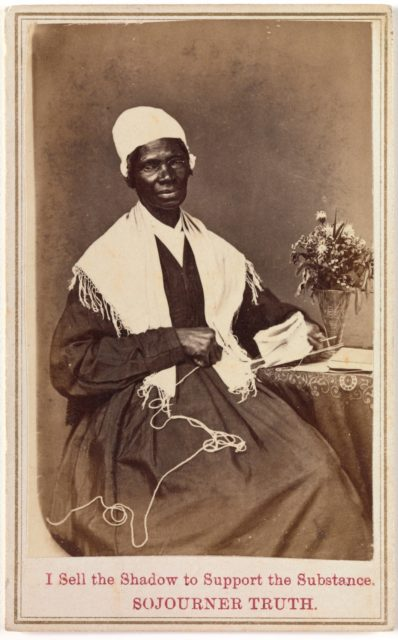"""Sojourner Truth, """"I Sell the Shadow to Support the Substance"""""""