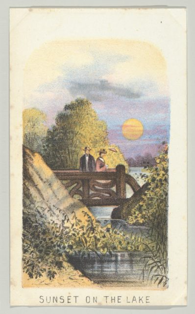 Sunset on the Lake, from the series, Views in Central Park, New York, Part 2