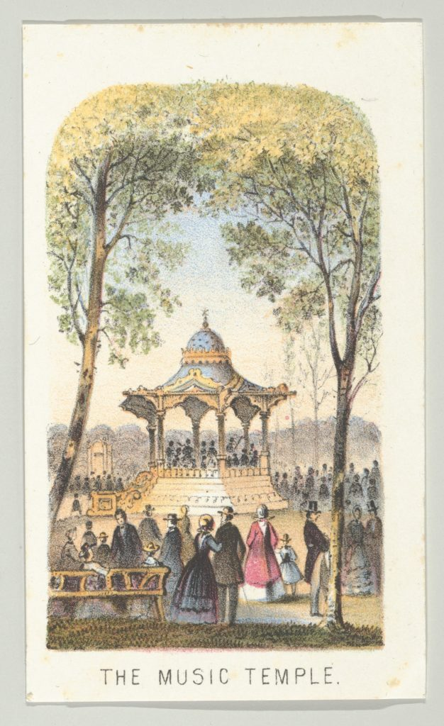 The Music Temple, from the series, Views in Central Park, New York, Part 2