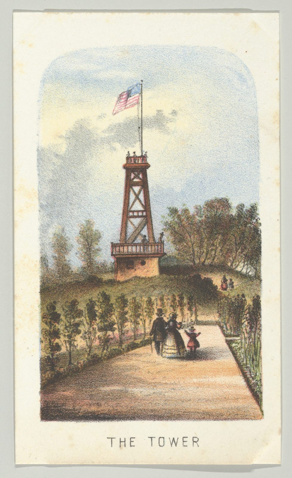 The Tower, from the series, Views in Central Park, New York, Part 2