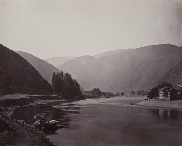Kashmir Baramula View Down the River