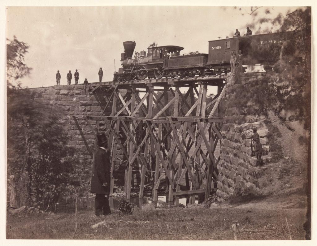Bridge on Orange and Alexandria Rail Road, as Repaired by Army Engineers under Colonel Herman Haupt