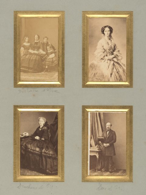 [Duchesse d'Albe, Unknown Sitter, Duchesse de Morny, and Duc de Morny]