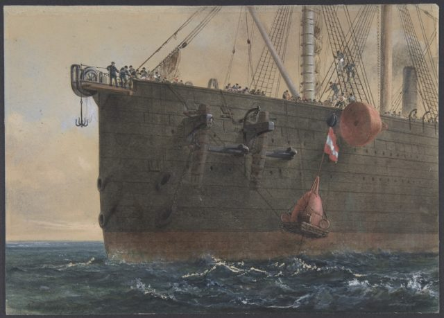 In the Bows of the Great Eastern: The Cable Broken and Lost, Preparing to Grapple, August 2nd, 1865