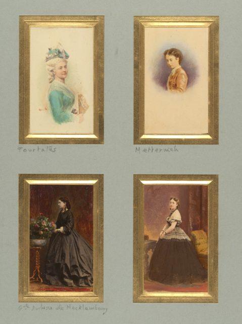 [Pourtalès, Metternich, Grande Duchesse de Mecklemboury, and Unknown Sitter]