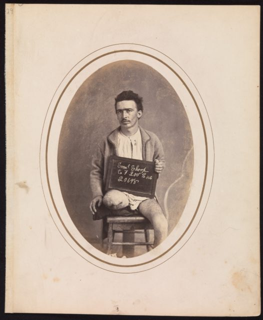 Private Samuel Shoop, Company F, 200th Pennsylvania Infantry