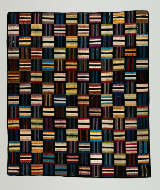 Quilt (or decorative throw), Roman Stripes pattern