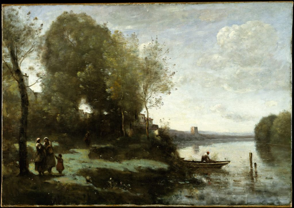 River with a Distant Tower