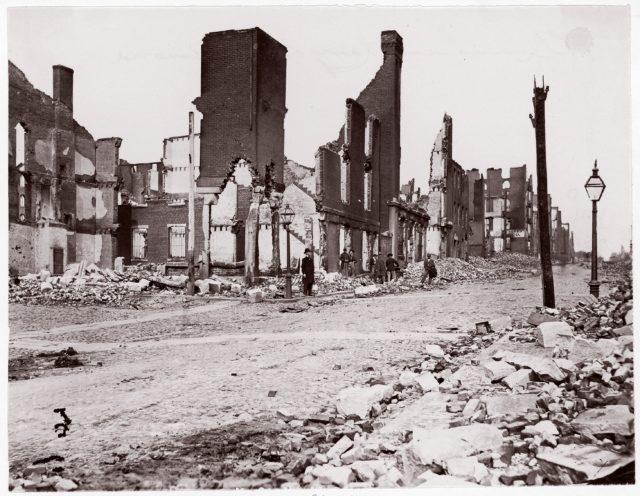 Ruins in Carey Street, Richmond