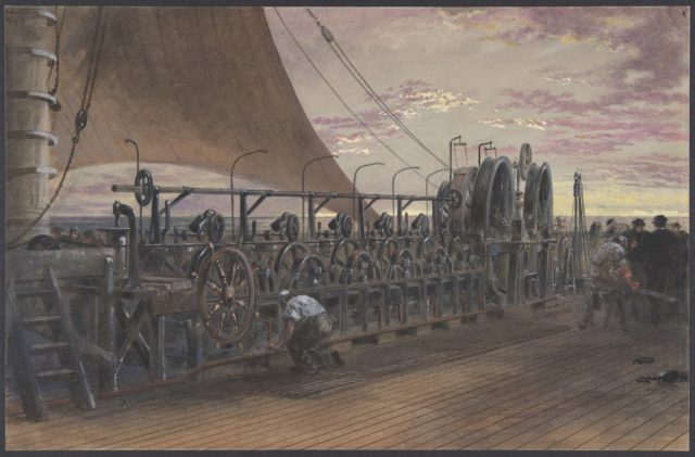 The Paying-out Machinery in the Stern of the Great Eastern