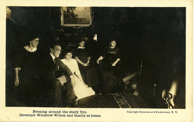 The Wilson Family Around The Study Fire