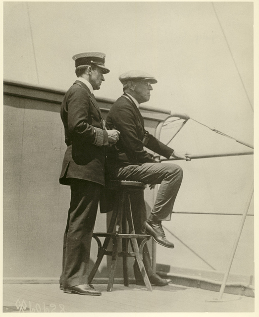 Wilson on the Bridge of the U.S.S. George Washington