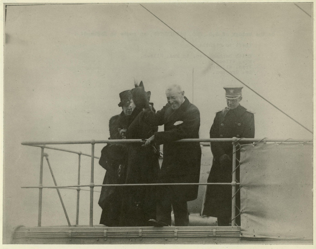 Wilson on Board U.S.S. George Washington