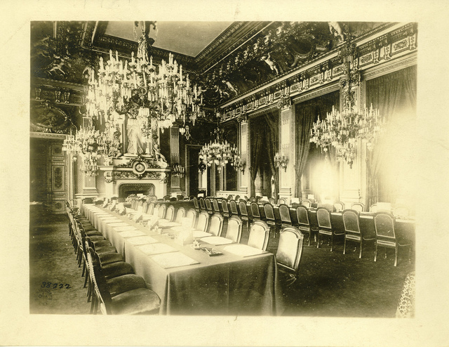 Salle de l'Horloge during the Paris Peace Conference
